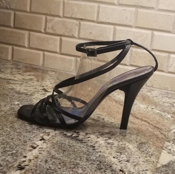 Gianni Bini Strappy Black Ankle Sandals